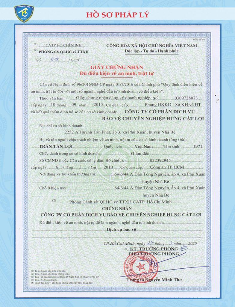 dịch vụ xin giấy phép con