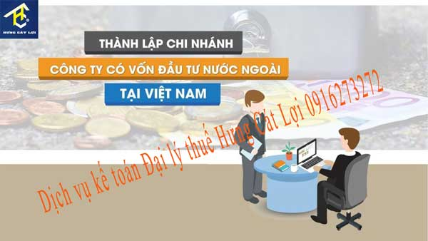 thành lập công ty chi nhánh có vốn đầu tư nước ngoài tại Việt Nam