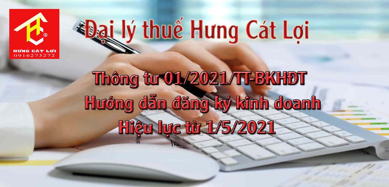 thông tư 01/2021/tt-bkhđt hướng dẫn đang ký kinh doanh